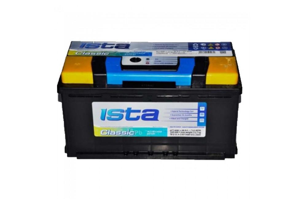 Аккумулятор ISTA CLASSIC (100 А/ч), 800А