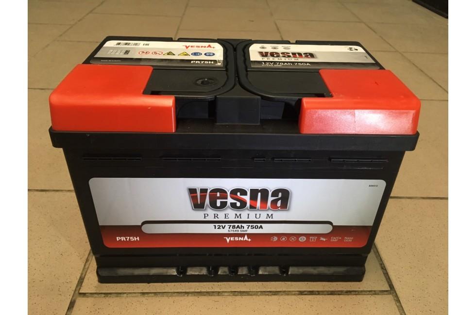 Аккумулятор VESNA Premium 78 a/h R+ 780A (EN)