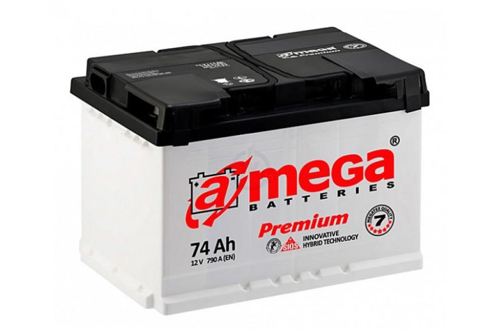 Аккумулятор A-mega 74 a/h L+.R+ 760A (EN)