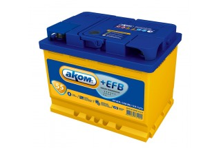 Аккумулятор АКОМ EFB 6СТ-55 Евро