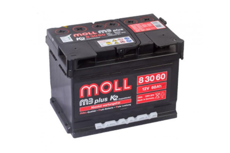 Аккумулятор Moll M3 Plus 60 A/ч 550A (EN)