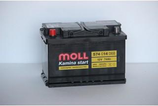Аккумулятор Moll 74 A/ч L 680A (EN)