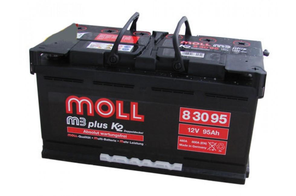 Аккумулятор Moll M3 Plus 95 A/ч 850A (EN)