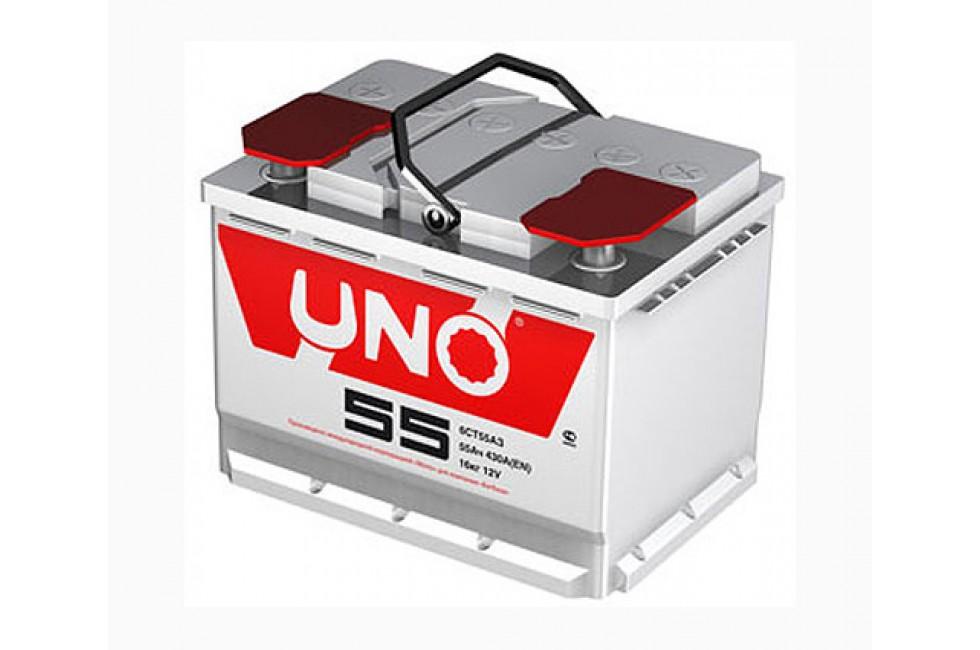 Аккумулятор UNO 6CТ-55 (55 А/ч) 420