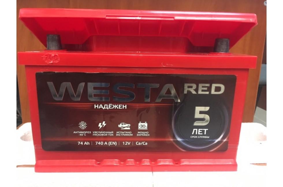 Аккумулятор Westa RED 74 R+ 740A