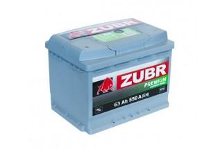 Аккумулятор Зубр Premium 63 А/ч  550A