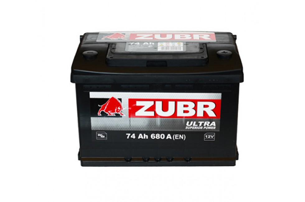 Аккумулятор Зубр ультра 75 a/h 760А R+