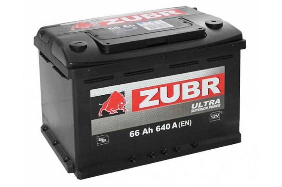 Аккумулятор Zubr Ultra 66 A/h 640А L+