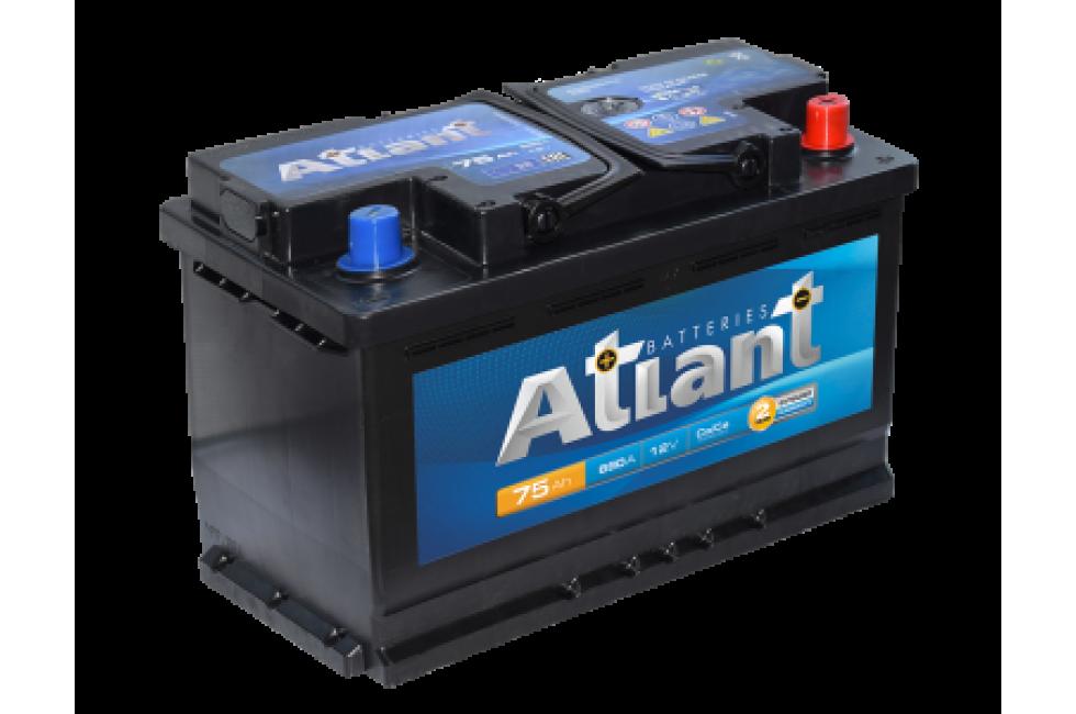 Аккумулятор Atlant Autopart 75 a/h L+/R+ 620A (EN)