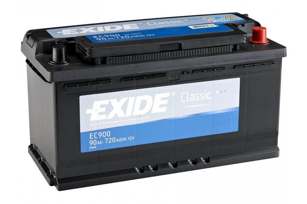 Аккумулятор Exide Classic EC900 (90 A/h), 720A R+