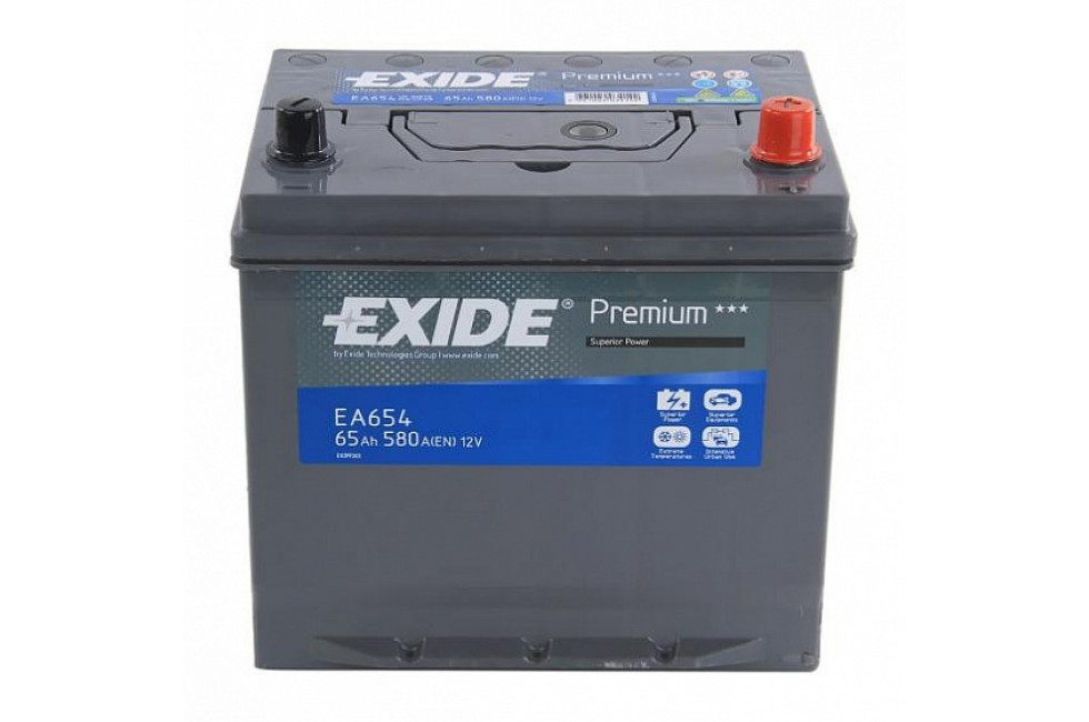 Аккумулятор Exide Premium EA654 (65 A/h), 580A R+