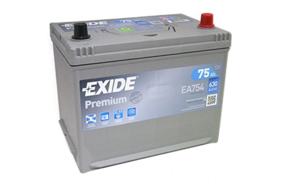 Аккумулятор Exide Premium EA754 (75 A/h), 630A R+