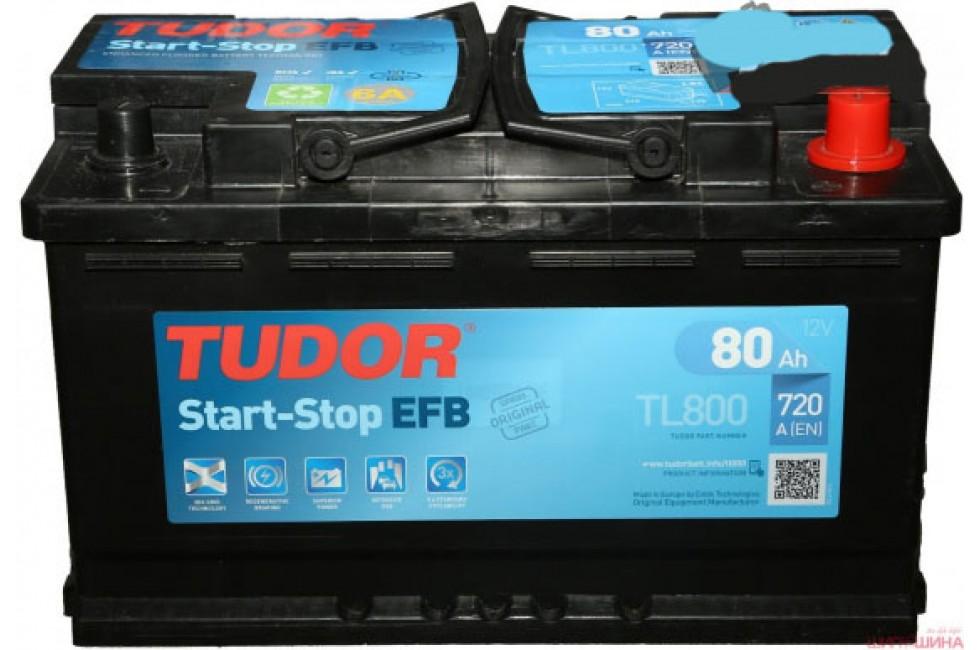 Аккумулятор TUDOR Start-Stop EFB TL800 80 A/h 720A R+