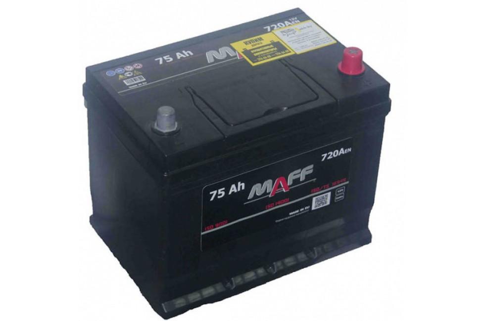Аккумулятор MAFF Premium Asia 75 A/h 720А R+/L+