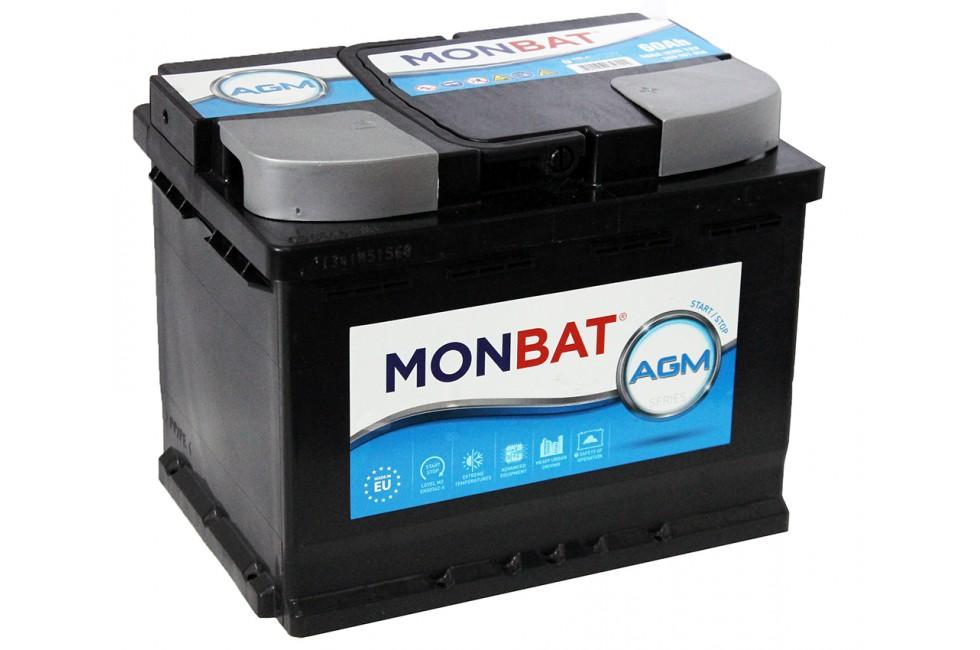 Аккумулятор Monbat AGM (60 A/h), 560A R+