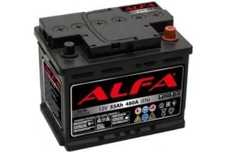 Аккумулятор ALFA Hybrid 55 А/ч 480A R+