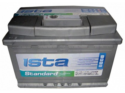 Аккумулятор ISTA Standard (77 А/ч), 720А