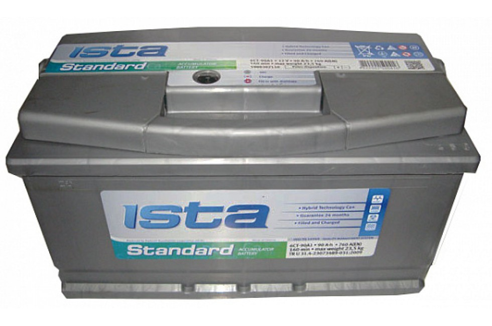 Аккумулятор ISTA Standard (90 А/ч), 760А