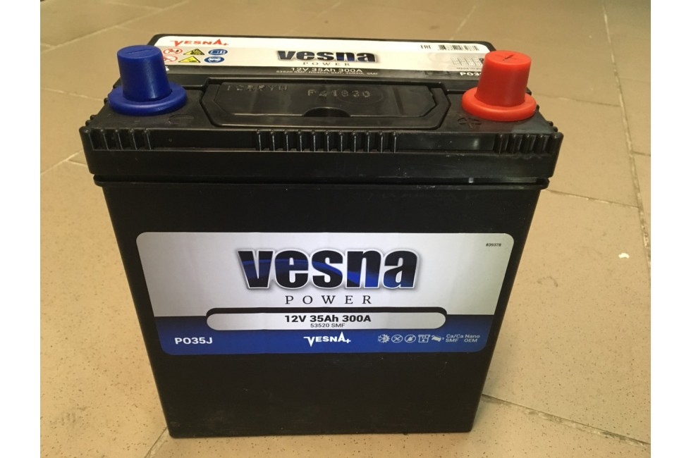 Аккумулятор VESNA azia 35 a/h R+ 300A (EN)