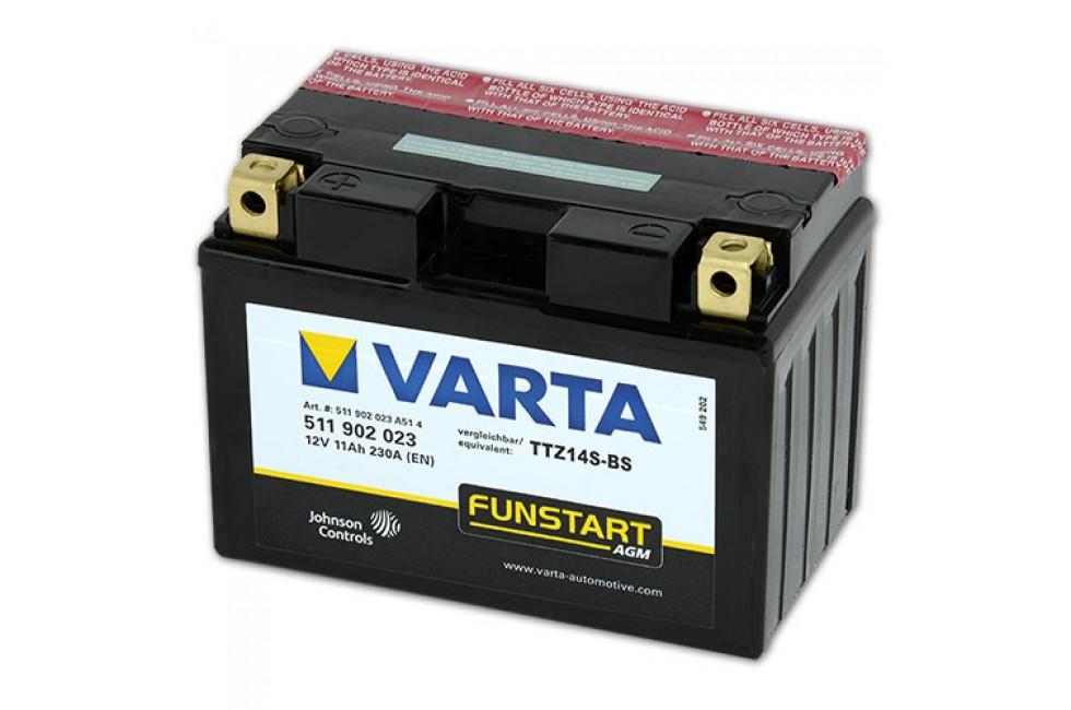 Аккумулятор VARTA TTZ14S-BS (511902)