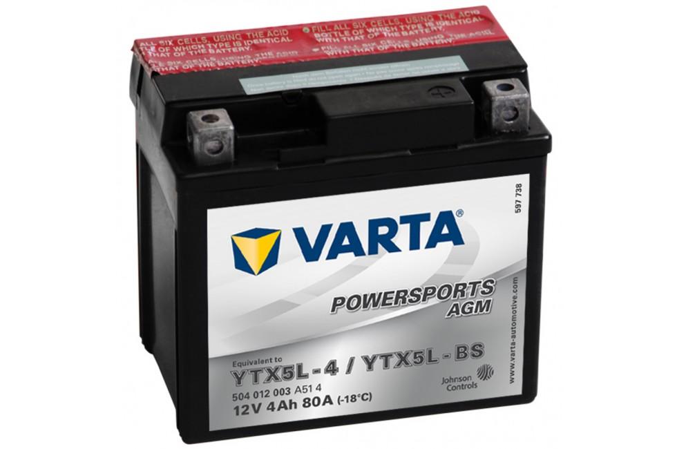 Аккумулятор VARTA YTX5L-BS (504012)