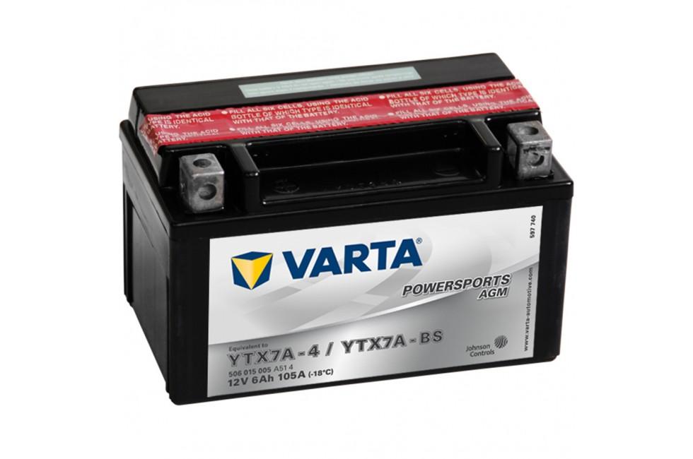Аккумулятор Varta AGM YTX7А-BS 506015
