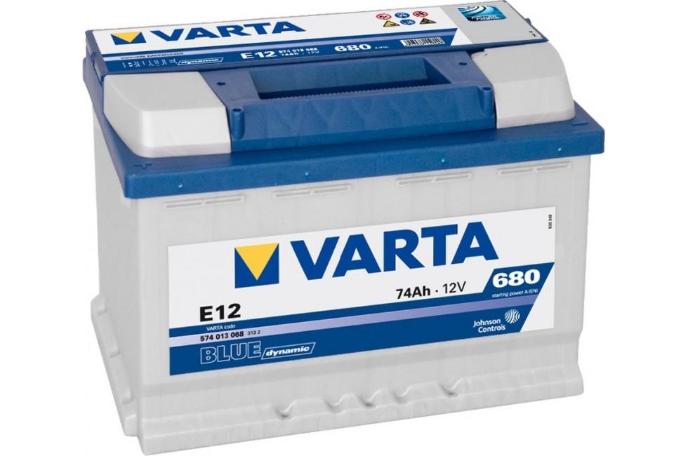 Аккумулятор Varta Blue Dyn 574012 (74 Ah) 680A