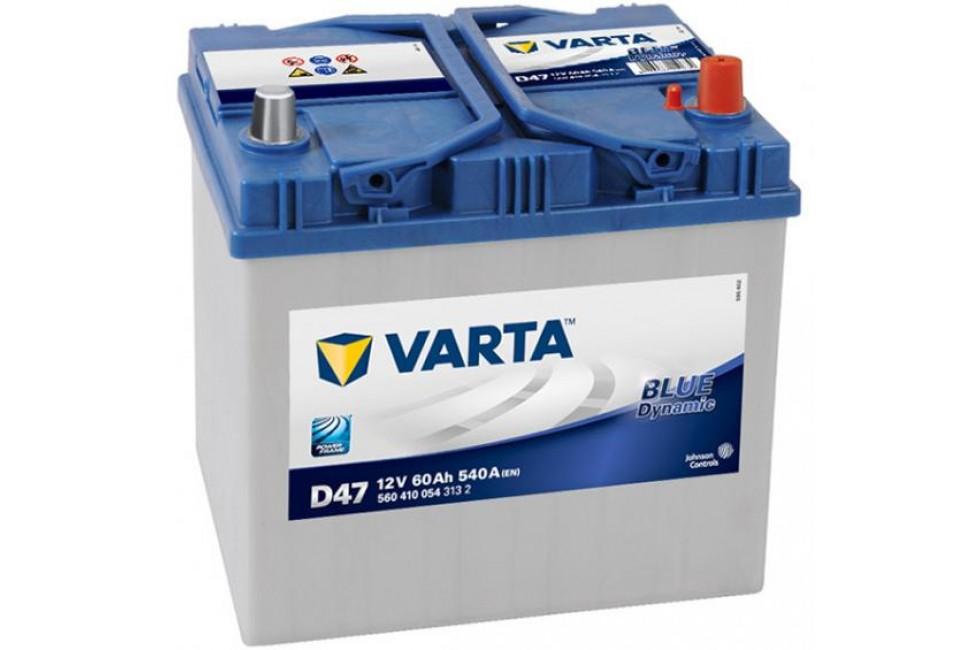 Аккумулятор Varta Blue Dyn (Asia) 60Ah R+540A