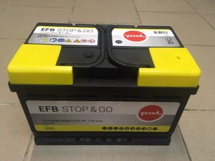 Аккумулятор VESNA EFB 65 a/h R+ 650A