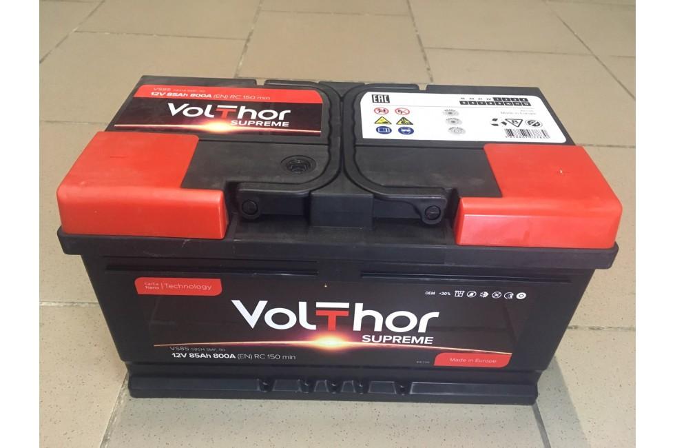 Аккумулятор VolThor 85 a/h R+ 800A (EN)