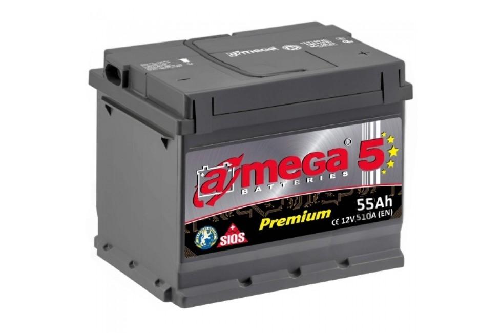 Аккумулятор A-mega 55 R+/L+ 510 A (EN)