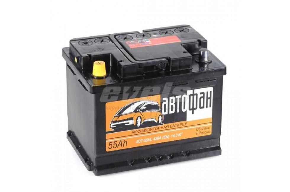 Аккумулятор Akom Автофан 6CT-55 (55 A/h), 420А R+