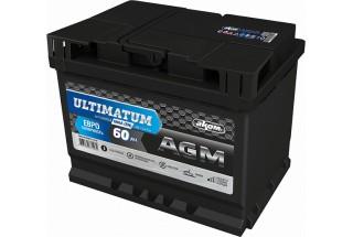 Аккумулятор АКОМ ULTIMATUM 60 AGM Евро (60 A/h), 680А R+