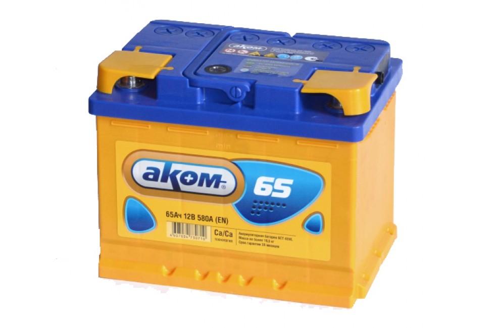 Аккумулятор Akom 65 a/h 580A (EN)
