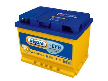 Аккумулятор АКОМ EFB 6СТ-65 Евро 670 A(EN)
