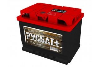 Аккумулятор РУСБАТ+ 6СТ-55  A/h 450 A(EN).