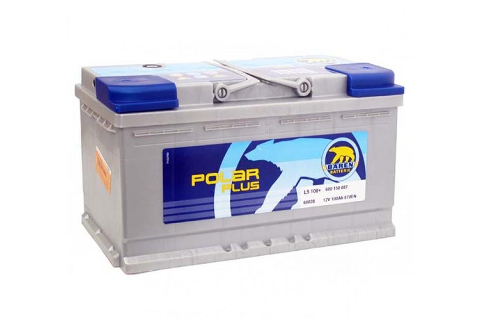 Аккумулятор Baren Polar 100 a/h 870A (en)