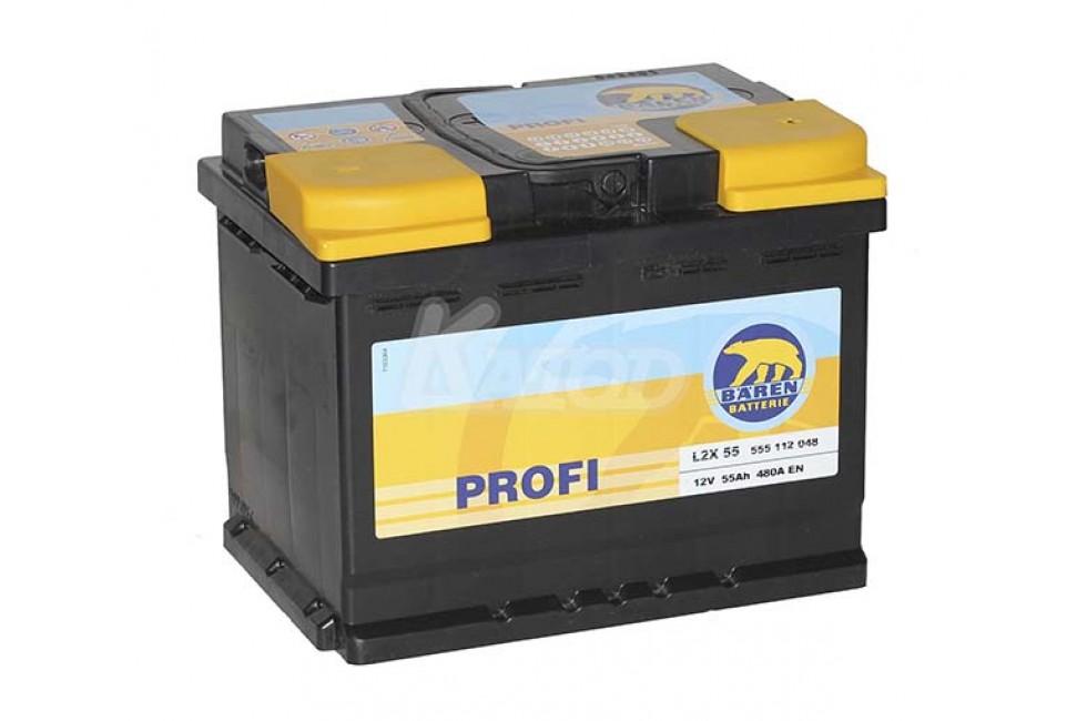 Аккумулятор Baren Profi 55 a/h (555112) 480A