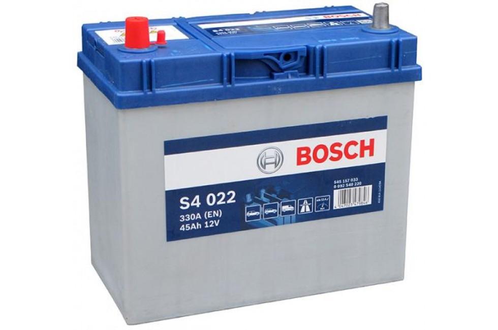 Аккумулятор Bosch S4 545 157з 330A L+ рус