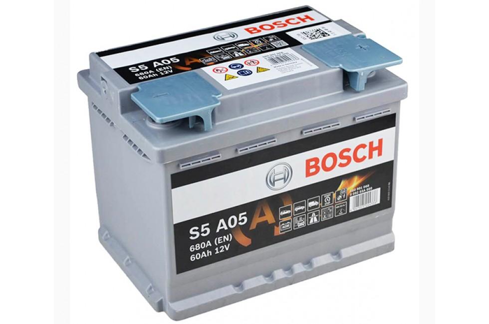 Аккумулятор BOSCH S5 AGM 60 R