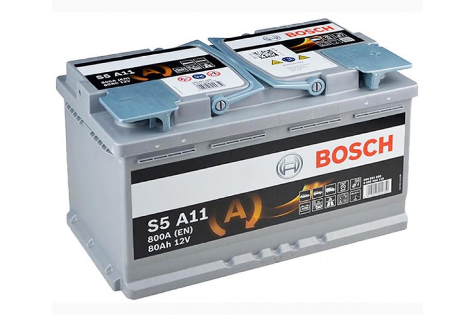 Аккумулятор BOSCH S5 AGM 80 a/h R