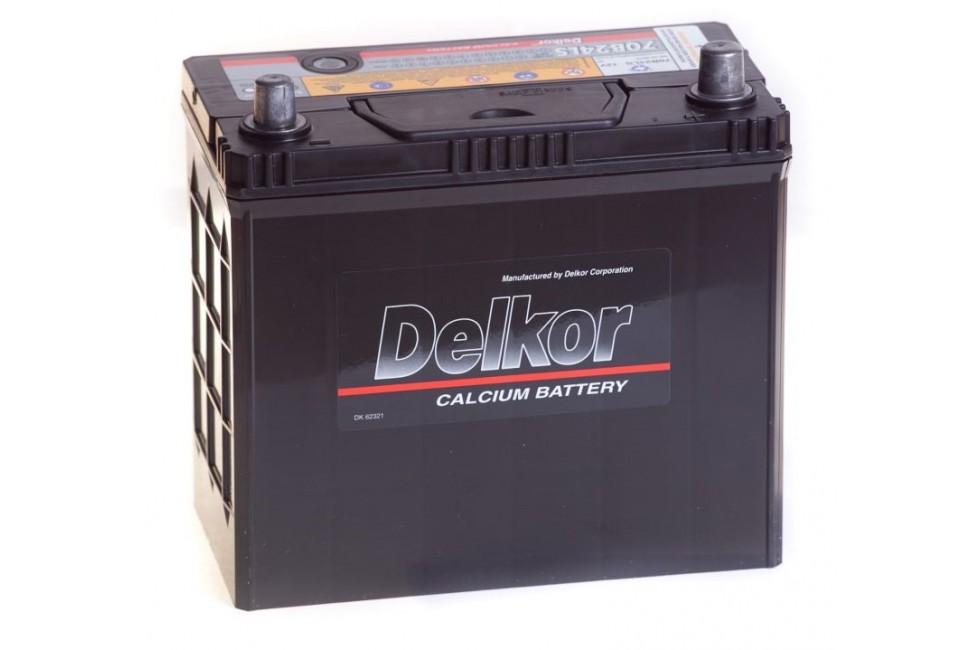 Аккумулятор DELKOR (70B24LS) 55 a/h R 480A e/n