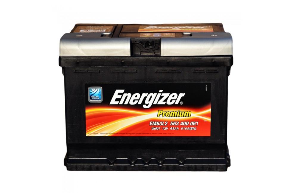 Аккумулятор Energizer prem 63 a/h 610A (EN)
