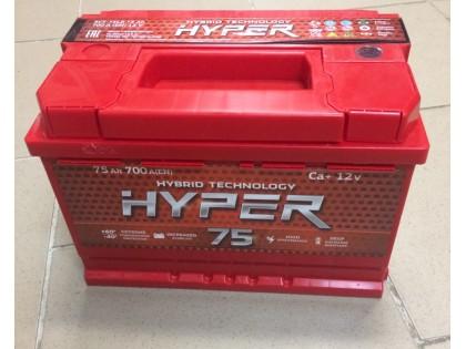 Аккумулятор Hyper 75 a/h 700A