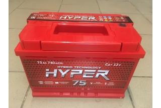 Аккумулятор Hyper 75 a/h 740A