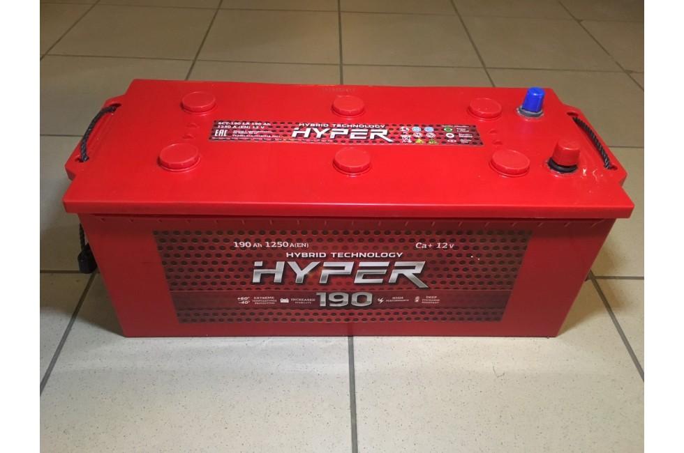 Аккумулятор Hyper 190 a/h 1250 e/n