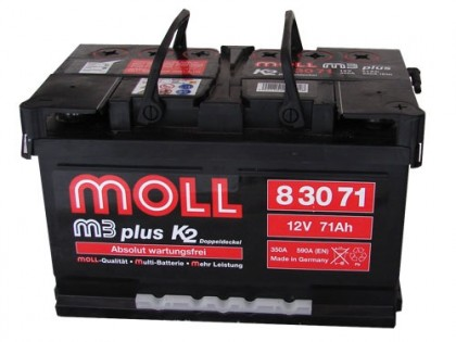 Аккумулятор Moll M3 Plus 71 A/ч 620-750A (EN)
