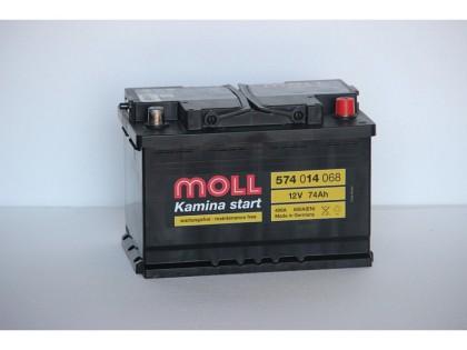Аккумулятор Moll 74 A/ч R 680A (EN)