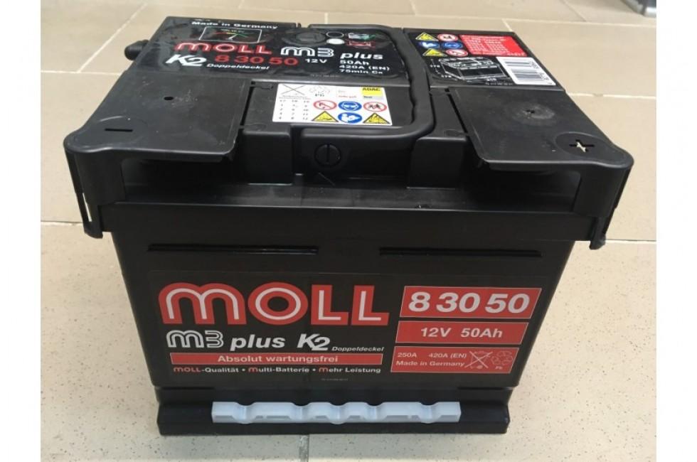 Аккумулятор Moll M3 Plus 50 A//ч 420A (EN)