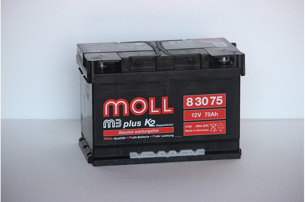 Аккумулятор Moll M3 Plus 75 A/ч 680A (EN)
